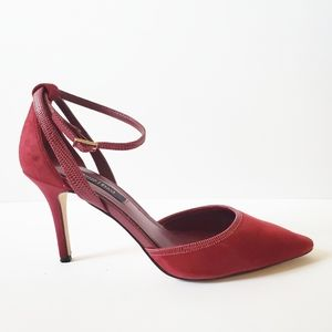 WHBM Ruby Rosso pointed toe heels